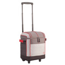 50 can soft sided wheeled cooler grey red