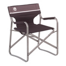 portable deck chair black grey white