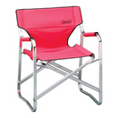 portable deck chair red