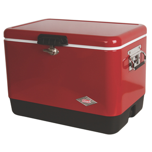 54-Quart Steel Belted Cooler - Red