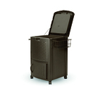 resin wicker cooler with cabinet dccw3000