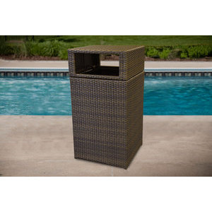 Open Air Lifestyles Wicker Trash Can