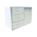 triple drawer and door combo