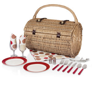 Picnic Time Barrel Basket- Moka