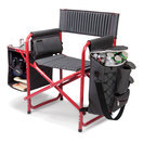 picnic time fusion chair red