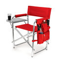 picnic time sports chair red