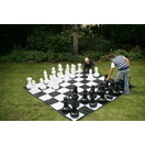 giant chess with mat