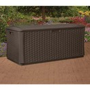 suncast 134 gallon resin wicker deck box