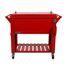 permasteel patio cooler furniture style 80qt red