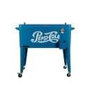 permasteel patio cooler pepsi cola styling 80 qt blue out of stock until spring 2020