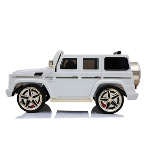 kool karz mercedes benz g55 amg electric special edition ride on toy car white and gold