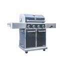 kenmore elite 4 burner plus side burner metallic gun metal finish pre assembled