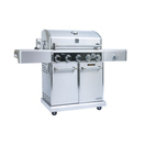 kenmore elite 5 burner plus searing side burner rear burner with rotisserie kit pre assembled