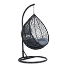 backyard lifestyles hanging swing chair single seater with cushion