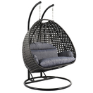 backyard lifestyles hanging swing chair dual seater with cushion