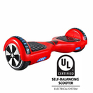 6.5 inch hoverboard with front light and bluetooth ul2272 certified red