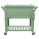 out of stock permasteel patio cooler furniture style 80qt sage